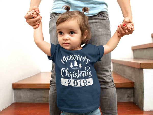 Kids Personalized Christmas Shirt Custom Christmas Tree Shirt Cute Matching Christmas Shirts Pine Trees Christmas Pajama Shirt-Shirts By Sarah