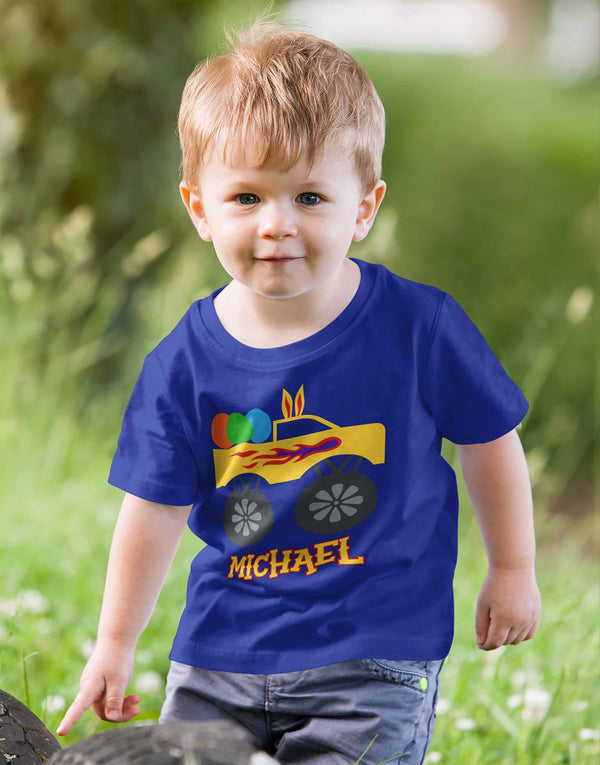Boy's Personalized Easter Shirt Toddler Baby Easter Truck Shirt Custom Easter Shirts-Shirts By Sarah