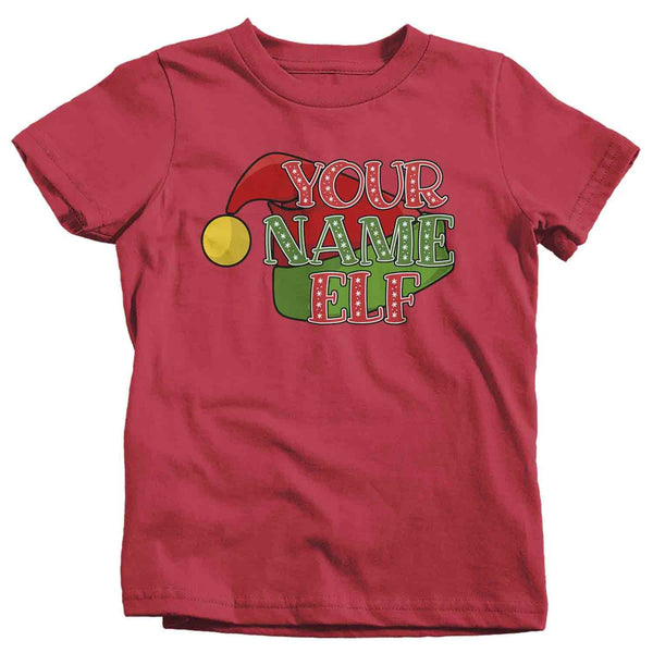 Kids Personalized Elf T Shirt Custom Elf Shirt Cute Christmas Shirts Xmas Elf Shirt Hat Shirts Elves Shirt-Shirts By Sarah
