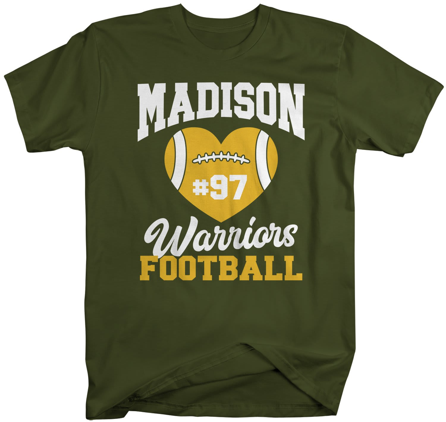9a587f7c7f9a6 Men's Personalized Football Mom T Shirt Custom Football Shirts Heart  Football T Shirt Personalized Team Shirts