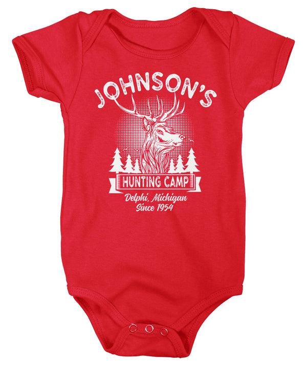 Baby Personalized Hunting T Shirt Deer Hunter Cabin Shirts Custom Camp Shirt Camping T Shirts Boys Girls Infant-Shirts By Sarah