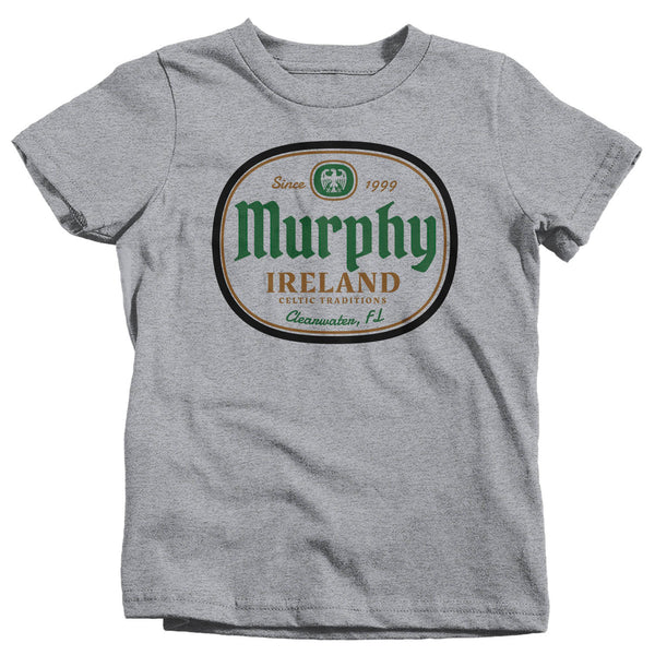 Kids Personalized Irish Shirt Family Name Custom Shirt St Patrick's Day T Shirt Ireland Shirt Boy's Girl's Irish Celtic Tee-Shirts By Sarah