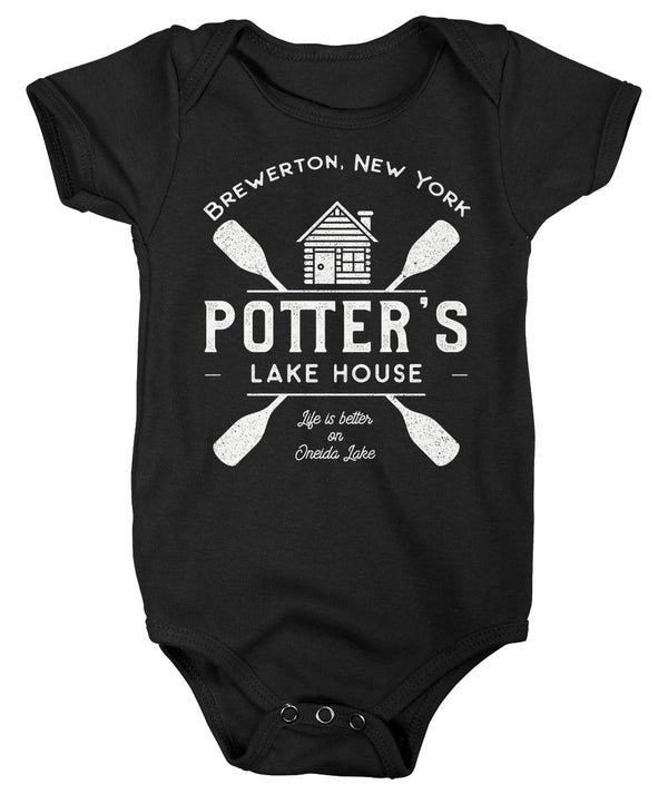 Baby Personalized Lake House Bodysuit Life Is Better At Cabin Snap Suit Custom Camp Shirt Camping Creeper Boys Girls-Shirts By Sarah