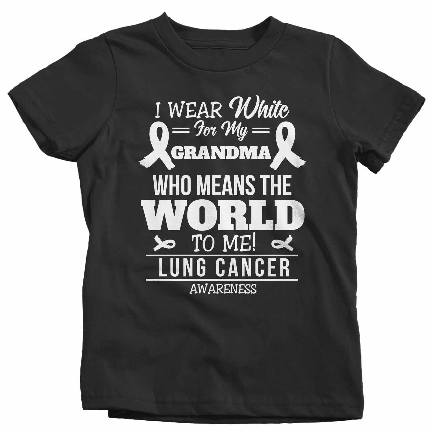 I Wear White for Someone Special T shirts Kids Tees Tops Youth Lung Cancer