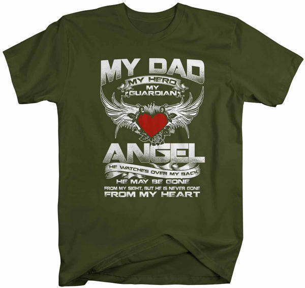 Men's Personalized Guardian Angel T Shirt In Memory Shirts Custom Shirts In Heart Shirt Custom Remember Shirt-Shirts By Sarah