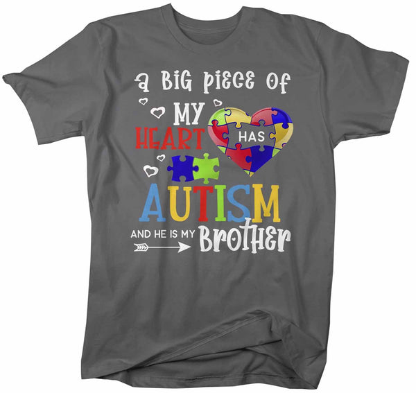 Men's Personalized Autism T Shirt Piece Of My Heart Shirts Custom Shirts Autism Shirt Custom Autism Shirt-Shirts By Sarah