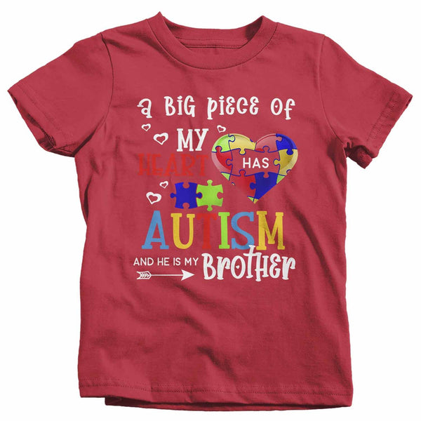 Kids Personalized Autism T Shirt Piece Of My Heart Shirts Custom Shirts Autism Shirt Custom Autism Shirt-Shirts By Sarah
