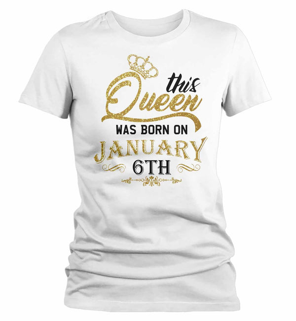 Women's Queen Birthday Shirt Personalized Queen Birthday Gift Crown Birthday T-Shirt Custom Birthday Shirts-Shirts By Sarah
