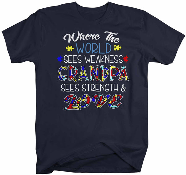 Men's Personalized Autism T Shirt Strength & Love Shirts Custom Shirts Grandpa Dad Shirt Teacher Aunt Custom-Shirts By Sarah
