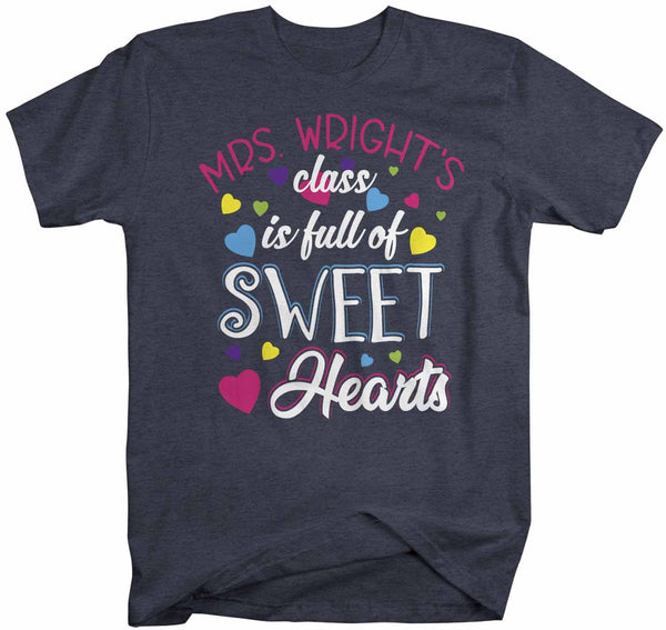 Men's Personalized Teacher T Shirt Valentine's Day Teacher Shirts Class Full Of Sweethearts TShirt Custom Teacher Tee-Shirts By Sarah