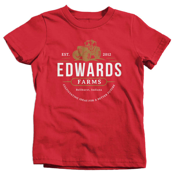 Kids Personalized Farm T Shirt Tractor Farming Shirt Personalized Farmer Gifts Shirts Custom Farm T Shirt-Shirts By Sarah