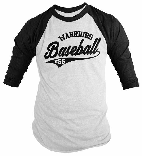 Men's Custom Baseball Shirt Personalized Vintage Raglan Baseball Parent T Shirt Personalized Shirt Vintage 3/4 Sleeve Baseball Tee-Shirts By Sarah