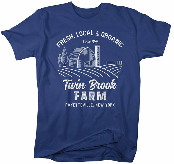 Men's Personalized Farm T Shirt Vintage Farmer Shirt Farmer Gift Idea Custom Barn Tee Shirts Customized TShirt-Shirts By Sarah