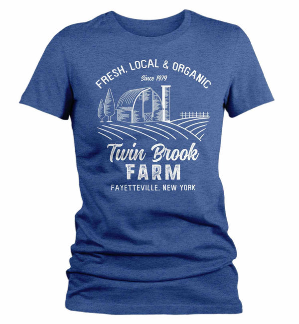 Women's Personalized Farm T Shirt Vintage Farmer Shirt Farmer Gift Idea Custom Barn Tee Shirts Customized TShirt-Shirts By Sarah