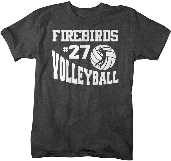 Men's Personalized Volleyball T Shirt Custom Volleyball Mascot Shirts Volleyball Dad T Shirt Personalized Shirts-Shirts By Sarah