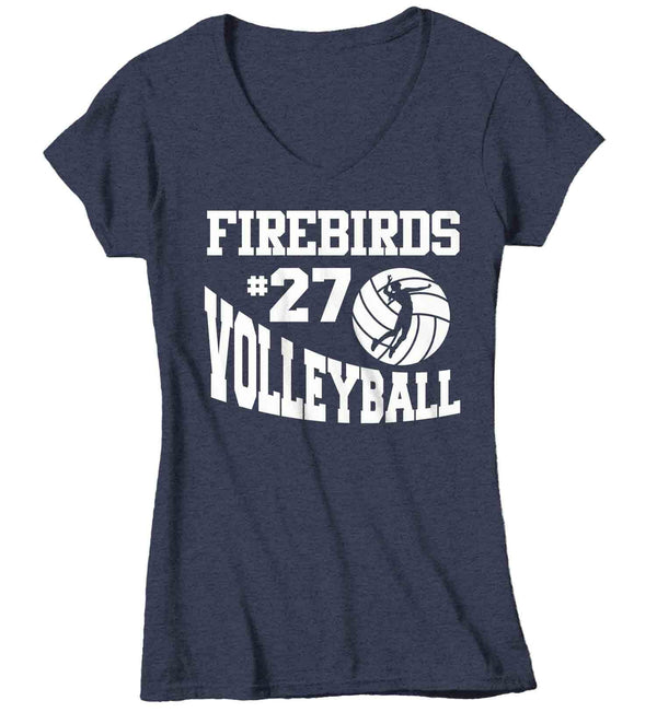 Women's Personalized Volleyball T Shirt Custom Volleyball Mascot Shirts Volleyball Mom T Shirt Personalized Shirts-Shirts By Sarah