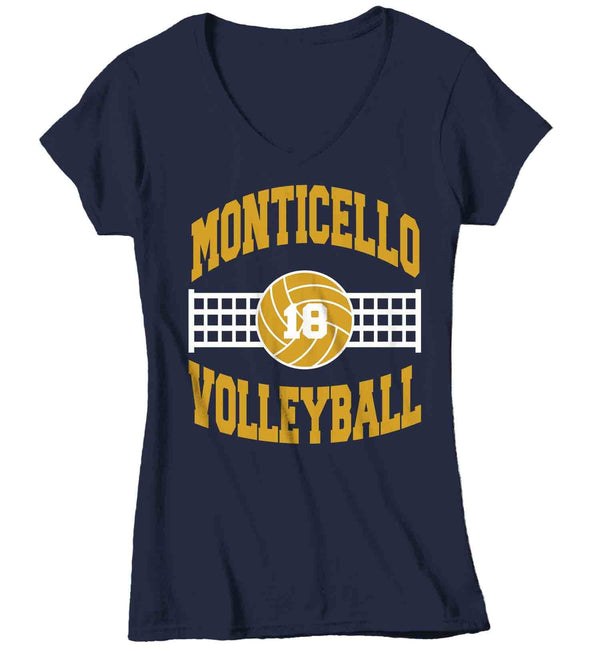 Women's Personalized Volleyball T Shirt Custom Volleyball Team Shirts Volleyball Mom T Shirt Personalized Shirts-Shirts By Sarah