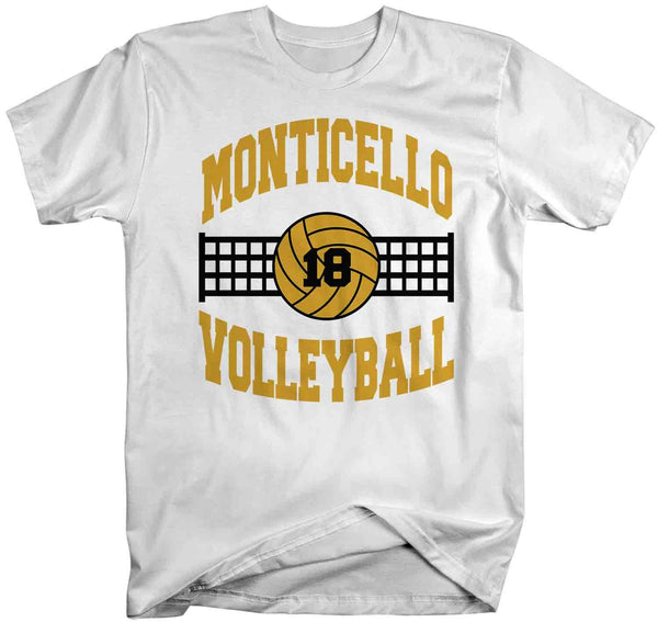 Men's Personalized Volleyball T Shirt Custom Volleyball Team Shirts Volleyball Dad T Shirt Personalized Shirts-Shirts By Sarah