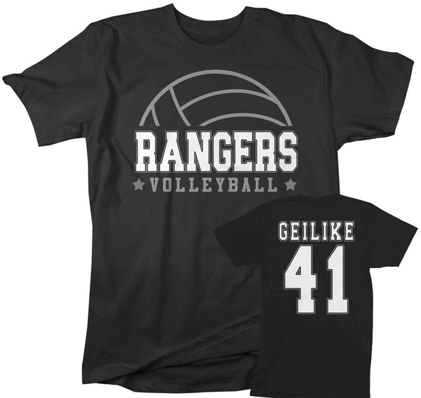 Men's Personalized Volleyball T Shirt Custom Volleyball Dad Shirt Personalized Volley Rear Printed Custom Shirts-Shirts By Sarah