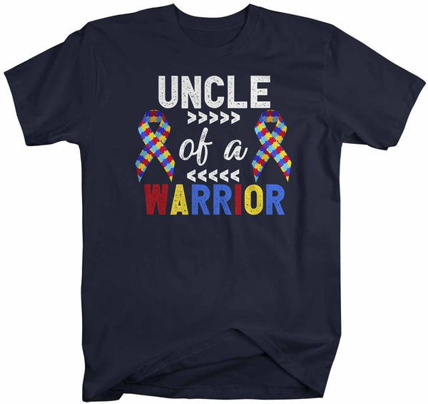 Men's Personalized Autism T Shirt Uncle Of Warrior Shirts Custom Shirts Grandpa Dad Shirt Custom Autism Shirt-Shirts By Sarah