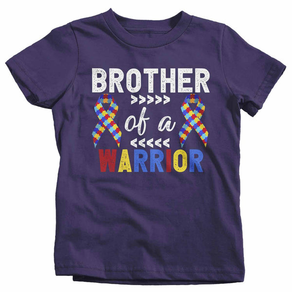 Kids Personalized Autism T Shirt Brother Of Warrior Shirts Custom Shirts Sister Cousin Shirt Custom Autism Shirt-Shirts By Sarah