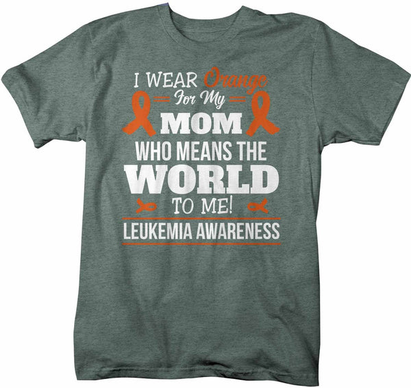 Men's Personalized Orange Ribbon T Shirt Wear Orange For Multiple Sclerosis Shirt Leukemia Shirt Personalized Shirts-Shirts By Sarah