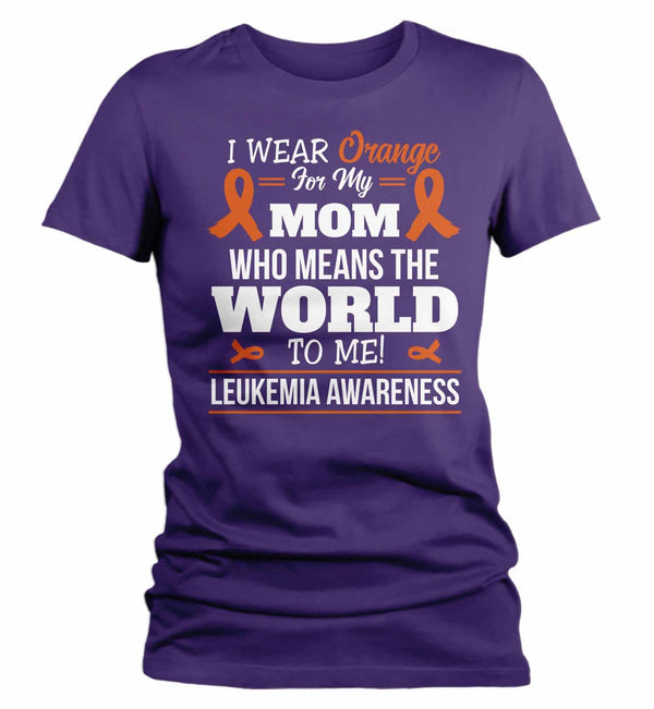 Women's Personalized Orange Ribbon T Shirt Wear Orange For Multiple Sclerosis Shirt Leukemia Shirt Personalized Shirts-Shirts By Sarah