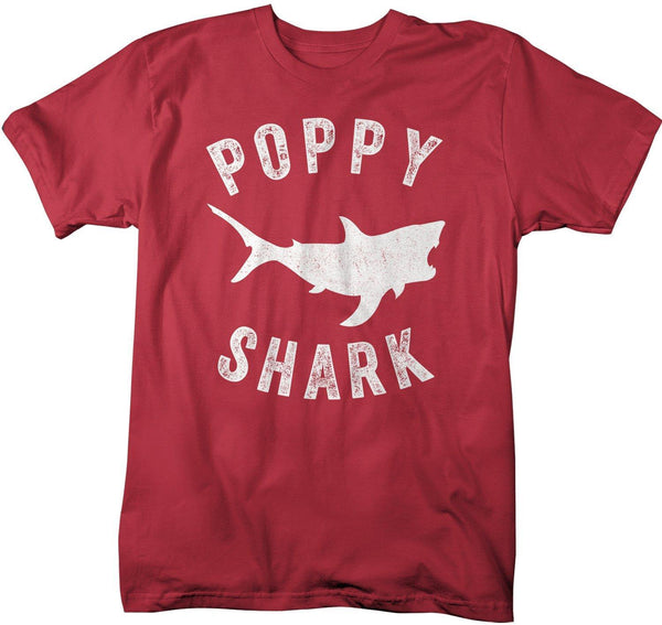 Men's Poppy Shark T Shirt Shark Shirts Matching Poppy TShirt Father's Day Gift Idea Tee Family Shirts-Shirts By Sarah