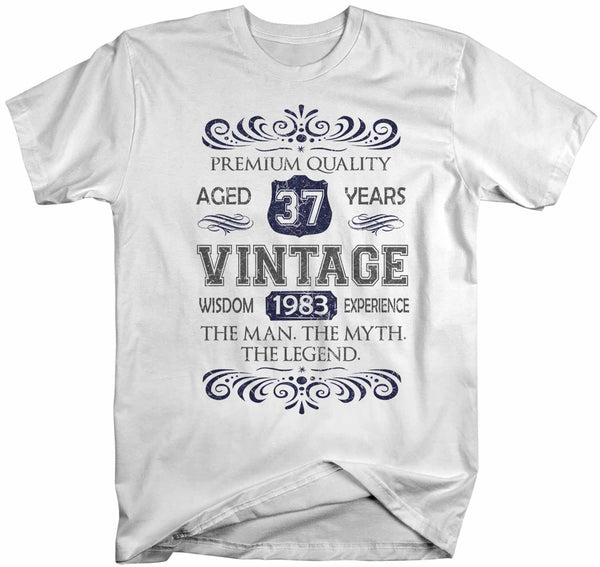 Men's Vintage Birthday T Shirt Myth Legend Custom Birthday Month Shirt 40th Birthday 50th Birthday 30th Birthday 60th Birthday Shirt-Shirts By Sarah
