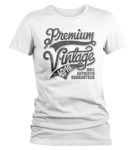 Womens Premium Vintage T Shirt 1979 Birthday Made In 40th Tee Retro Gift Idea