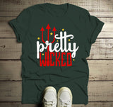 Men's Halloween T Shirt Pretty Wicked Pitchfork Halloween Shirts-Shirts By Sarah