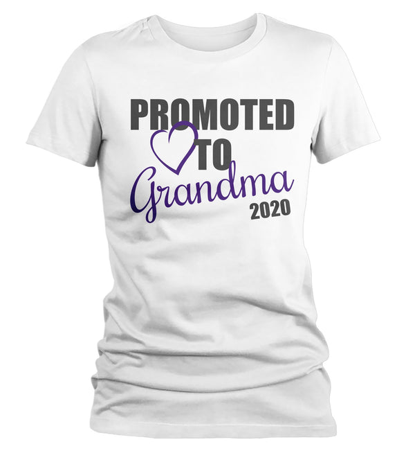 Women's Grandma T-Shirt Promoted To Grandma 2020 Shirt Promotion New Baby Reveal Gift Idea Shirts-Shirts By Sarah