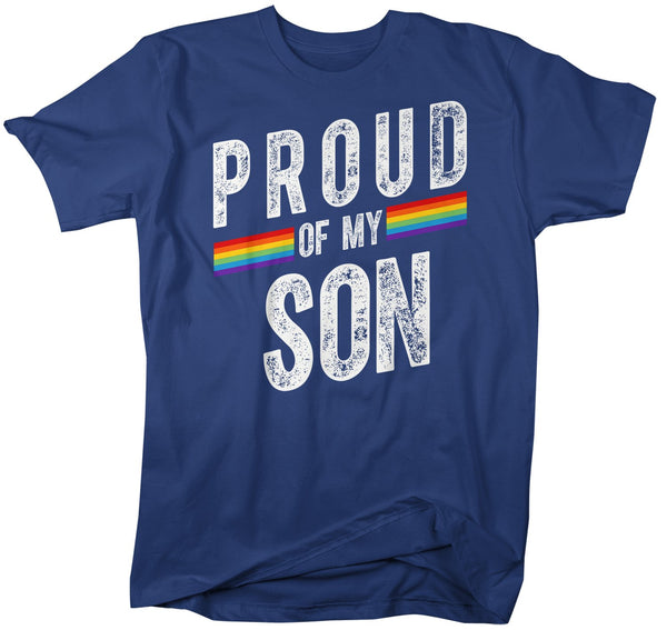 Men's Proud LGBT Mom T Shirt LGBT Mom Shirts Proud Of My Son Shirt LGBT Pride T Shirts Grunge Tee-Shirts By Sarah