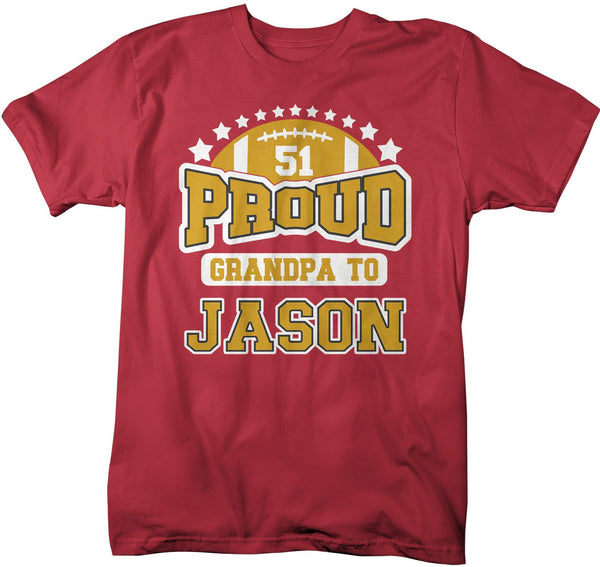 Men's Personalized Football T Shirt Proud Football Shirts Football Dad Shirt Football Grandpa Shirts Custom Football Shirts-Shirts By Sarah