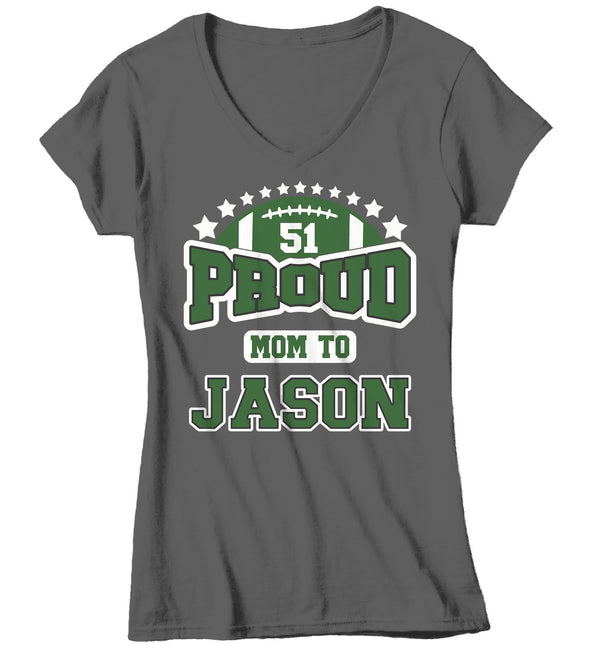 Women's Personalized Football T Shirt Custom Football Mom Shirt Personalized Football Grandma Aunt Custom Shirts-Shirts By Sarah