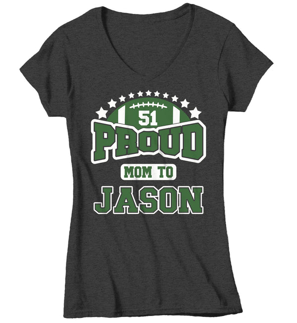 Women's Personalized Football T Shirt Proud Football Shirts Football Mom Shirt Football Grandma Shirts Custom Football Shirts-Shirts By Sarah