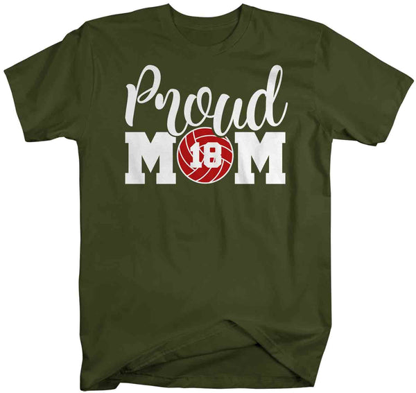 Men's Personalized Volleyball Mom T Shirt Proud Volleyball Mom Shirts Volleyball Mom Shirt Personalized Shirts-Shirts By Sarah