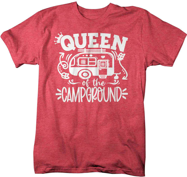 Men's Funny Camping Shirt Queen Of The Campground T Shirt Camper Pull Behind RV Camp 5th Wheel Camping Humor Saying Tee Unisex Man-Shirts By Sarah