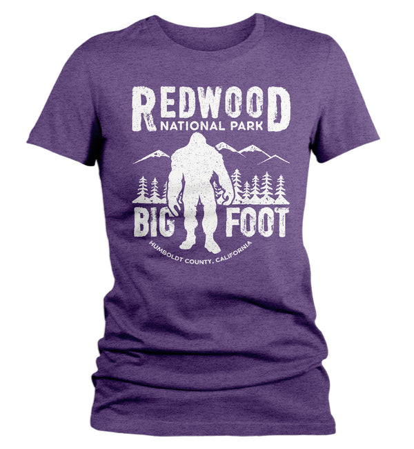 Women's Bigfoot T Shirt Redwood National Park Shirt California T Shirt Yeti Sasquatch Shirt Forest Shirt Bigfoot Gift Ladies Woman-Shirts By Sarah