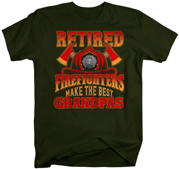 Men's Retired Firefighter Shirt Grandpa T Shirt Firemen Make The Best Grandpas Tee Grandpa Gift Father's Day Unisex Man-Shirts By Sarah