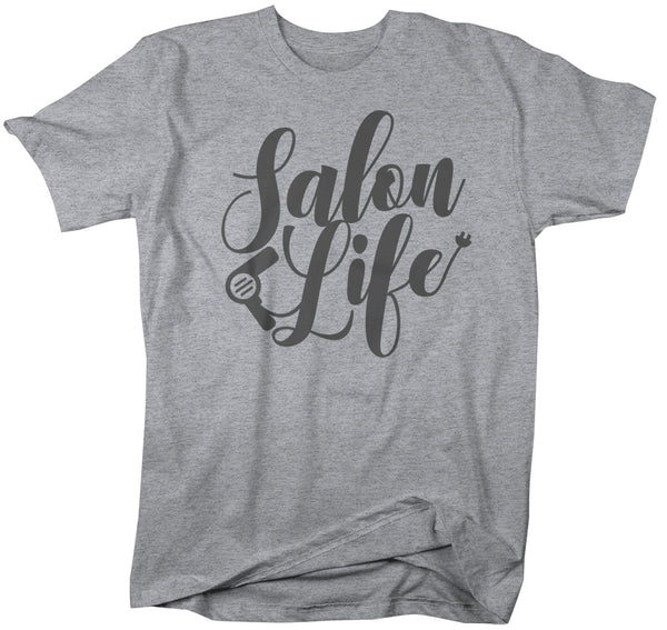 Men's Salon Life T-Shirt Hairdresser Shirts Hair Salon Shirt Barber Shirts Stylist TShirt Gift Idea-Shirts By Sarah