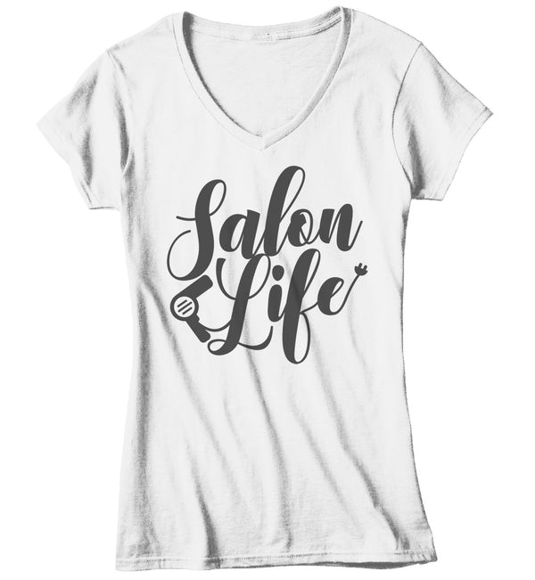 Women's Salon Life T-Shirt Hairdresser Shirts Hair Salon Shirt Barber Shirts Stylist TShirt Gift Idea-Shirts By Sarah
