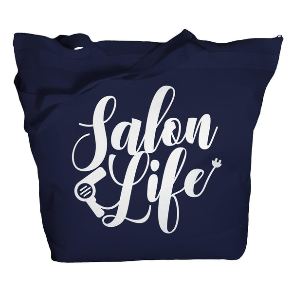 Tote Salon Life Totes Bags For Hairdresser Spa Totes Hairdressers Hair Cut Zippered Top Recycled-Shirts By Sarah