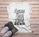 Men's Funny Beer T Shirt Save Water Drink Beer Graphic Tee Craft Beer Gift Idea TShirt Hops-Shirts By Sarah
