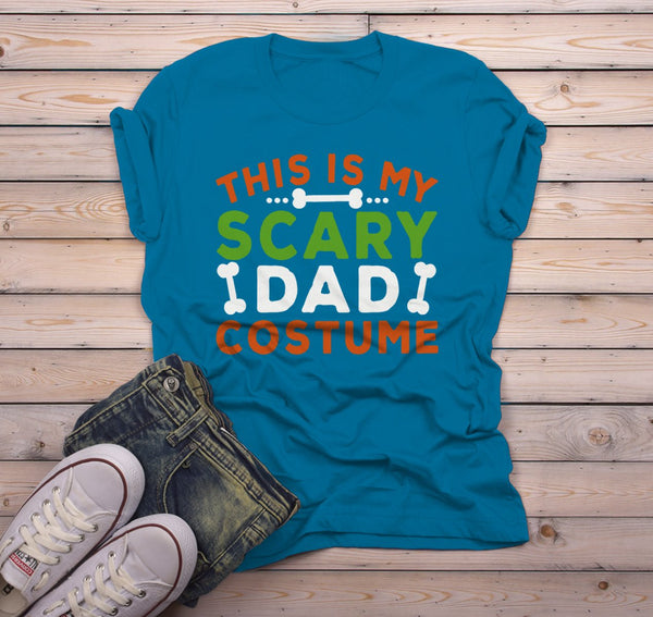 Men's Funny Halloween T Shirt This Is My Scary Dad Costume Tee Bones Dad Shirts-Shirts By Sarah