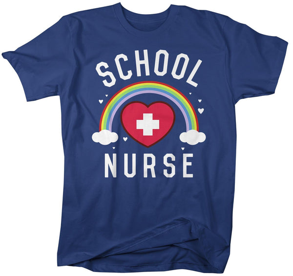 Funny Cute School Nurse T Shirt School Nurse Shirt Rainbow Shirt Nurse Gift Idea School Nurse Gift-Shirts By Sarah