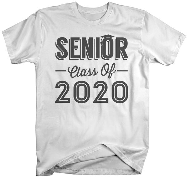 Men's Senior Class Of 2020 Ring Spun Cotton T-Shirt Seniors Cap Graduation Gift Idea Grad Shirt Graduate Tee-Shirts By Sarah
