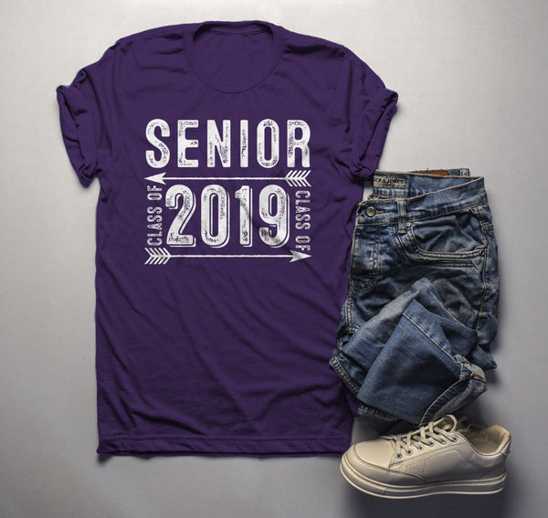 Men's Senior Class 2019 T Shirt Graduate Tee Grunge Distressed TShirt Graduation Gift Idea Shirts-Shirts By Sarah