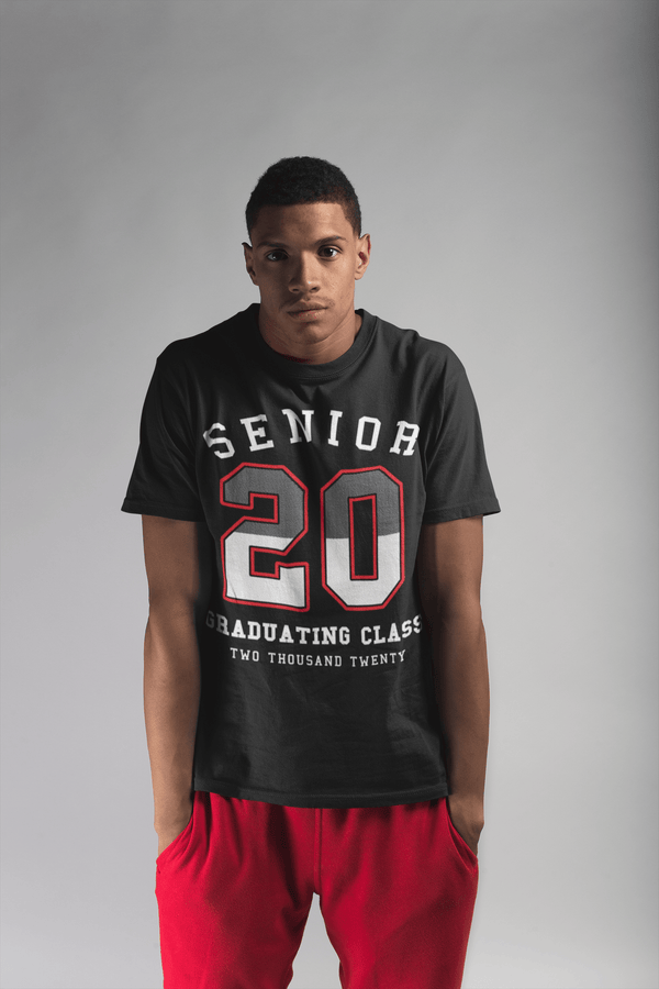 Men's Senior 2020 T Shirt Athletic Shirt Vintage Senior 2020 Shirts Graduating Class 2020 T-Shirt Grad Gift Idea-Shirts By Sarah