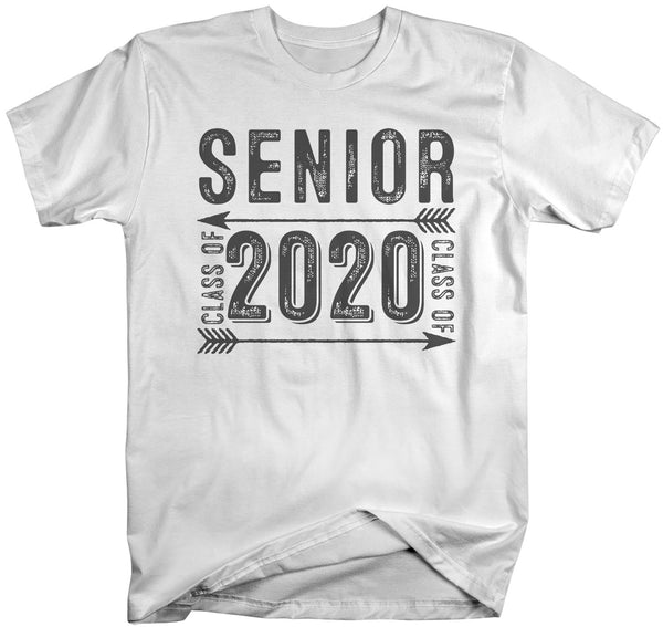 Men's Senior Class 2020 T Shirt Graduate Tee Grunge Distressed TShirt Graduation Gift Idea Shirts-Shirts By Sarah